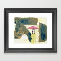 Floating: Rain Framed Art Print