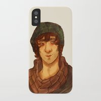 grantaire iPhone & iPod Cases featuring Grantaire by deadpokerface