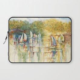 Summer Sailboats Drifting By Laptop Sleeve
