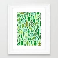 forrest Framed Art Prints featuring Forrest by Holly van Who