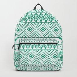 African Mud Cloth // Aquamarine Backpack