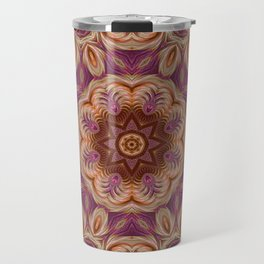 Pink and Gold Spiral Kaleidoscope 2 Travel Mug