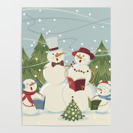Christmas Song / Snowmen Poster