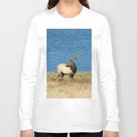 elk Long Sleeve T-shirts featuring Elk by Becca Buecher