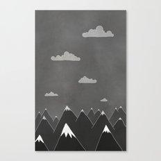 Chalkboard Winter Canvas Print
