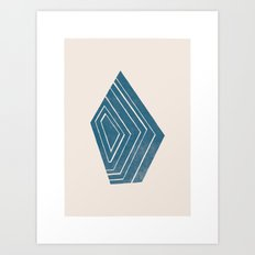Geode I - in Sapphire Art Print