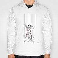 moulin rouge Hoodies featuring Rouge Gorge by Libby Watkins Illustration