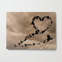 Heart of Crows (Birds) A276 Metal Print