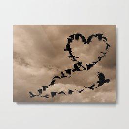 Heart of Crows (Birds) A276 Metal Print