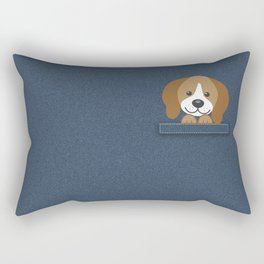 Beagle in a Pocket Rectangular Pillow