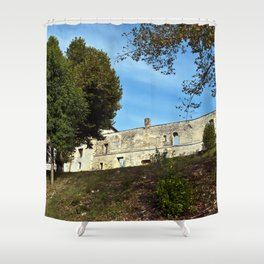 Abbey in South West of France Shower Curtain