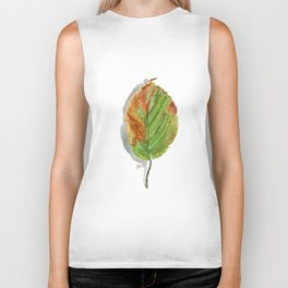 Autumn leaf of hazelnut  Biker Tank