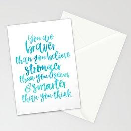 Braver, stronger, smarter Stationery Cards