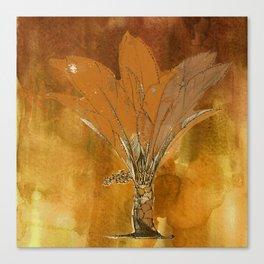 Gold Palm Canvas Print
