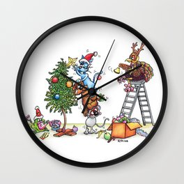 Christmas Decorating Wall Clock