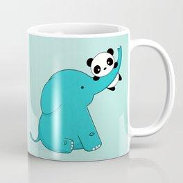 Kawaii Cute Panda and Elephant Coffee Mug