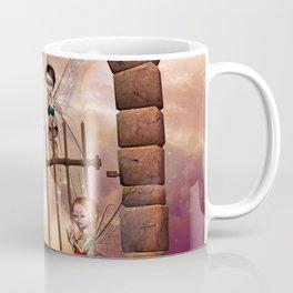Cute playing fairys in the sunset Coffee Mug