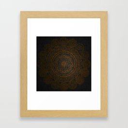 Circular Connections Copper Framed Art Print
