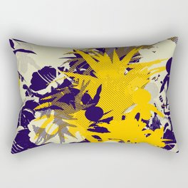 tropical silhouette with orchids and palms with yellow Rectangular Pillow