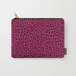 PINK LEOPARD PRINT – Hot Pink | Collection : Punk Rock Animal Prints. Carry-All Pouch