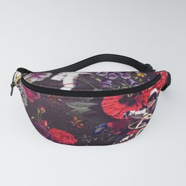 Flowers and Astronauts Fanny Pack