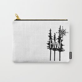 PNW Trees & Compass Carry-All Pouch