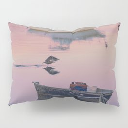 Two boats one seagull Pillow Sham