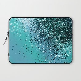 Aqua Blue OCEAN Glitter #1 #shiny #decor #art #society6 Laptop Sleeve