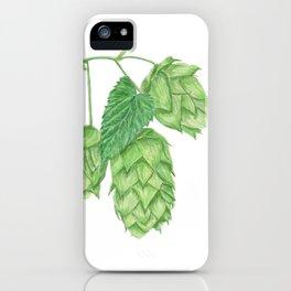 Beer Hop Flowers iPhone Case