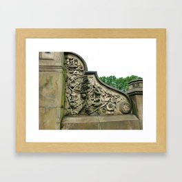 Central Park Floral Design Framed Art Print