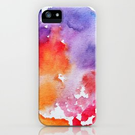 Vivid - abstract painting with pink, purple, red, orange, blue colors that pop iPhone Case