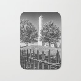 BOSTON Bunker Hill Monument | Monochrome Bath Mat