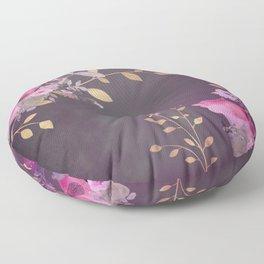 FLOWERS & GOLD  Floor Pillow