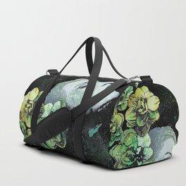 Obey Me (graffiti flower lady portrait) Duffle Bag
