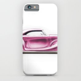 Vintage 1934 pink Packard Eight 2/4-Passenger Coupe iPhone Case