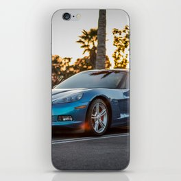 Blue Vette iPhone Skin