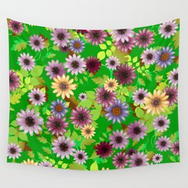 Multicolored natural flowers 6 Wall Tapestry