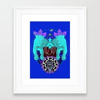 tigers Framed Art Prints featuring Tigers by Lihi Ascher Abraham