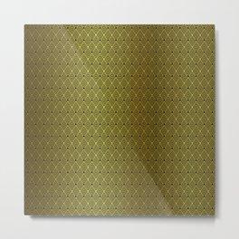 Gold & Black Art Deco Retro Vintage Revival Diamond Pattern Metal Print