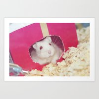 hamster Art Prints featuring Hamster by UliD