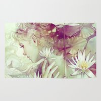 amy pond Area & Throw Rugs featuring Pond by Anna Dittmann