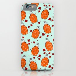Super Canadian Maple Syrup Pattern iPhone Case