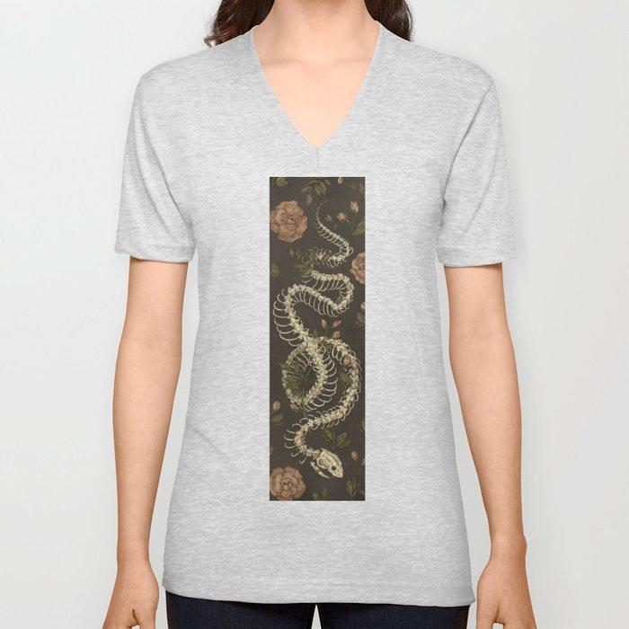 Snake Skeleton Unisex V-Neck