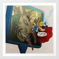 Thor - 'Google's World - M.E' Art Print
