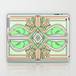 symmetry Green/orange Laptop & iPad Skin
