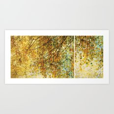 Nature diptych Autumn Art Print