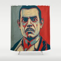"""ryan gosling Shower Curtains featuring Andrew Ryan """"Hope"""" Poster (vintage) by Woah Jonny"""