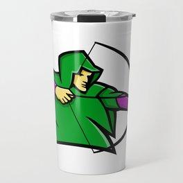Medieval Archer Mascot Travel Mug