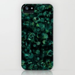 Dark Rich Teal Botanical Plant Abstract iPhone Case