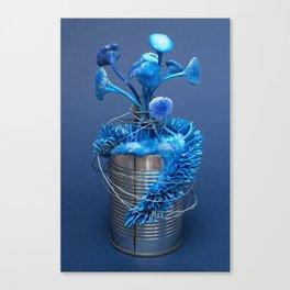I Can : Anxiety (Blue) | Surrealistic Mushroom Art | Sculpture by Stephanie Kilgast Canvas Print